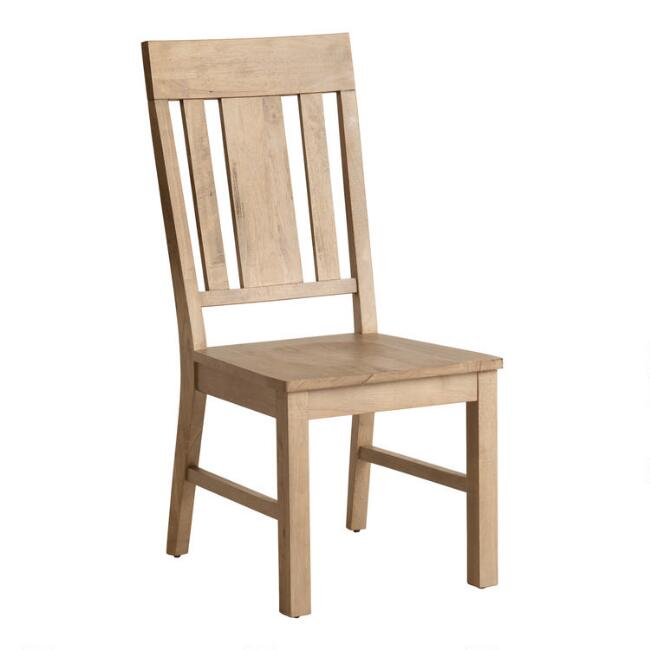 Wood Leona Farmhouse Side Chairs Set Of 2