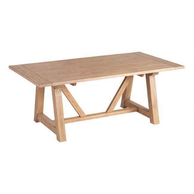 Wood Farmhouse Leona Extension Dining Table