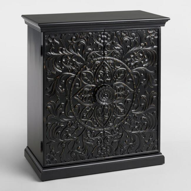 Antique Black Carved Bar - Antique Black Carved Bar World Market
