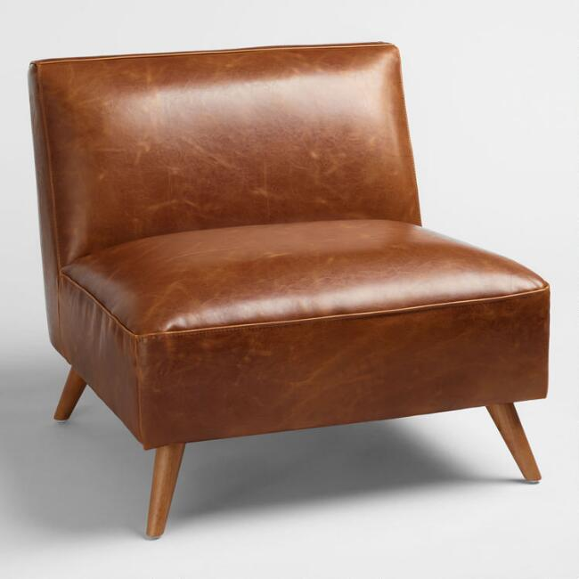 Best Home Shopping Websites: Cognac Bi Cast Leather Huxley Chair