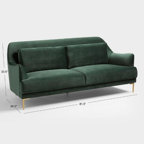 Forest Green Samara Sofa World Market