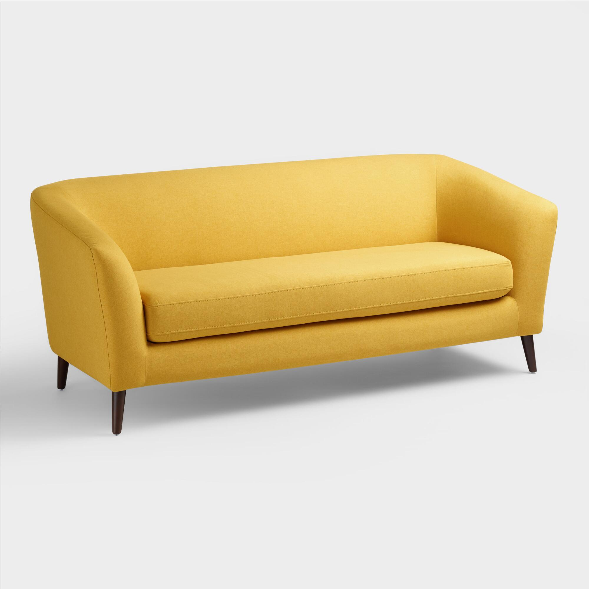 Yellow sofa bed yellow sofa bed bonners furniture thesofa for Couch and loveseat