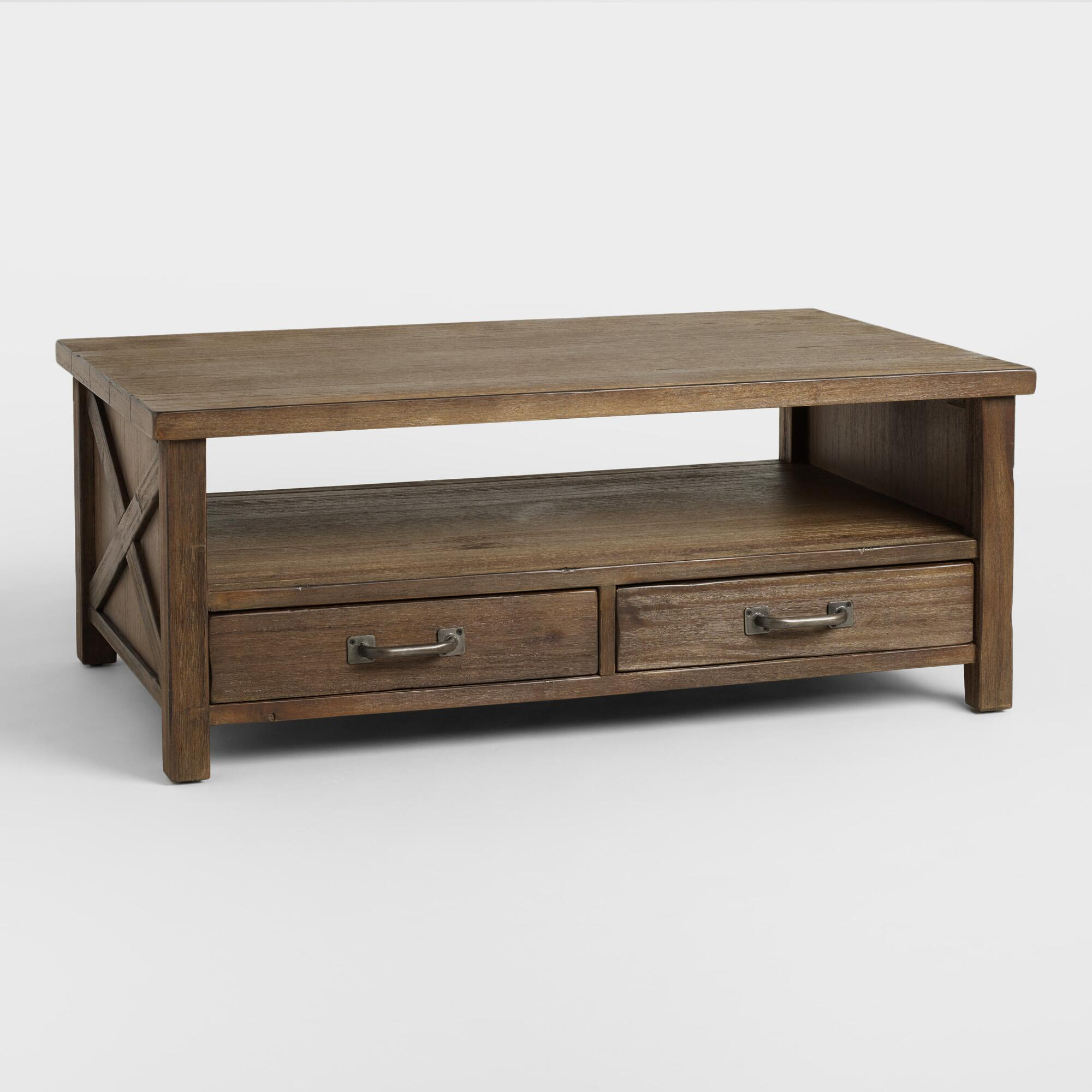 Coffee tables affordable end tables world market wood farmhouse coffee table geotapseo Gallery