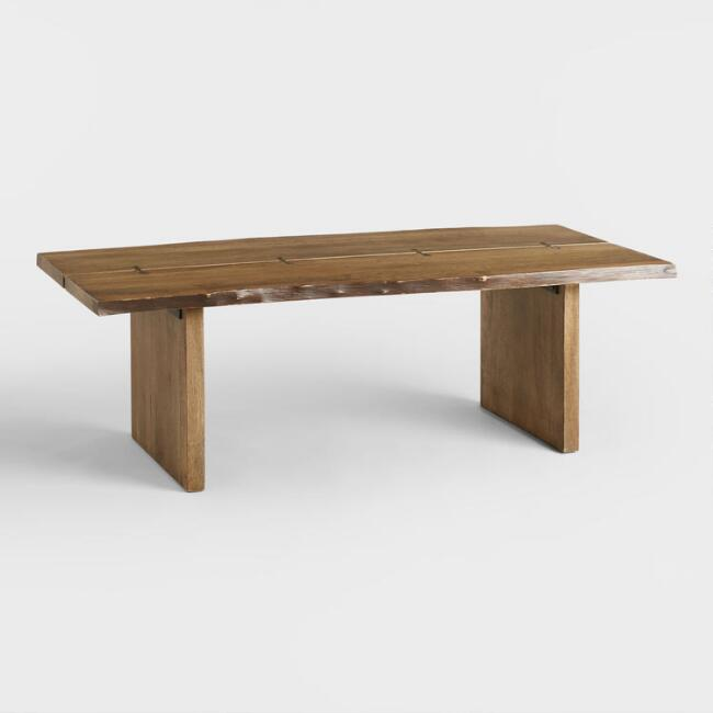 Wood maleya live edge coffee table world market Live wood coffee table