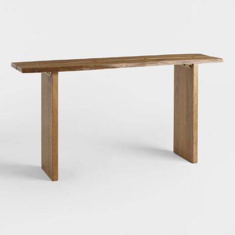 Wood Maleya Live Edge Console Table