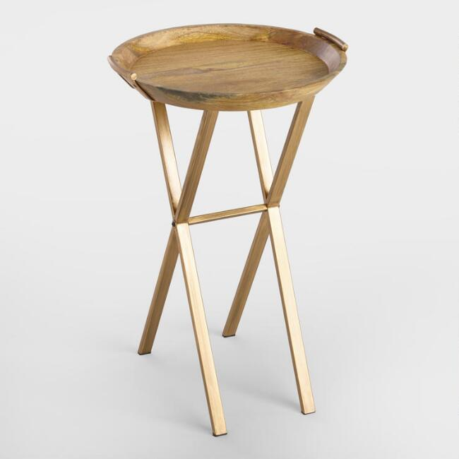 Wood Neema Accent Table