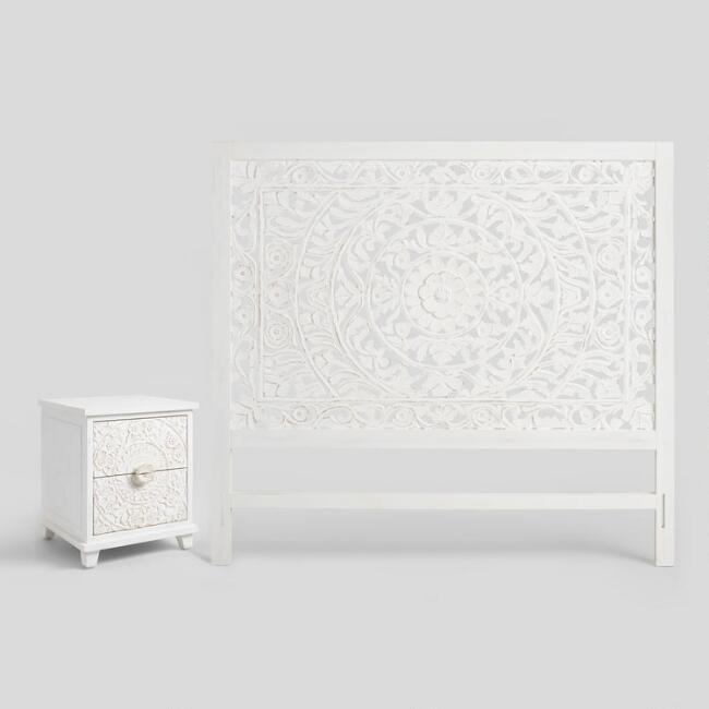 Whitewash Carved Zaria Collection