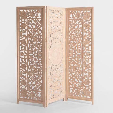 Natural Carved Zaria Screen World Market