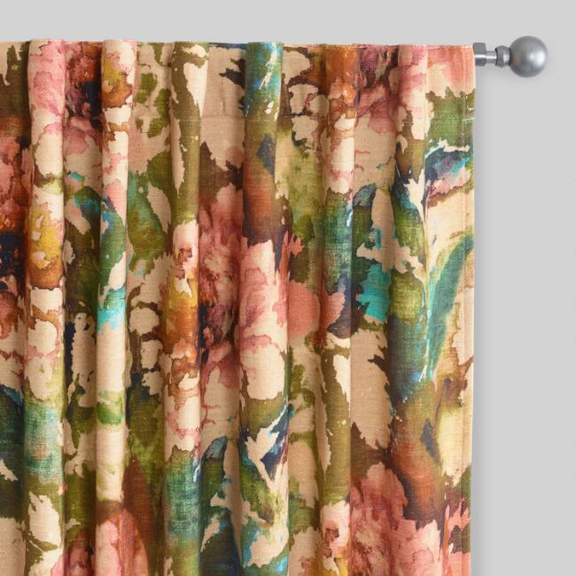 Floral Lombardy Concealed Top Curtains Set of 2