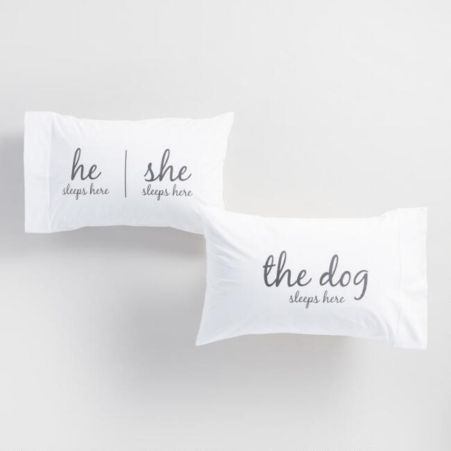 The Dog Sleeps Here Pillowcases Set Of 2