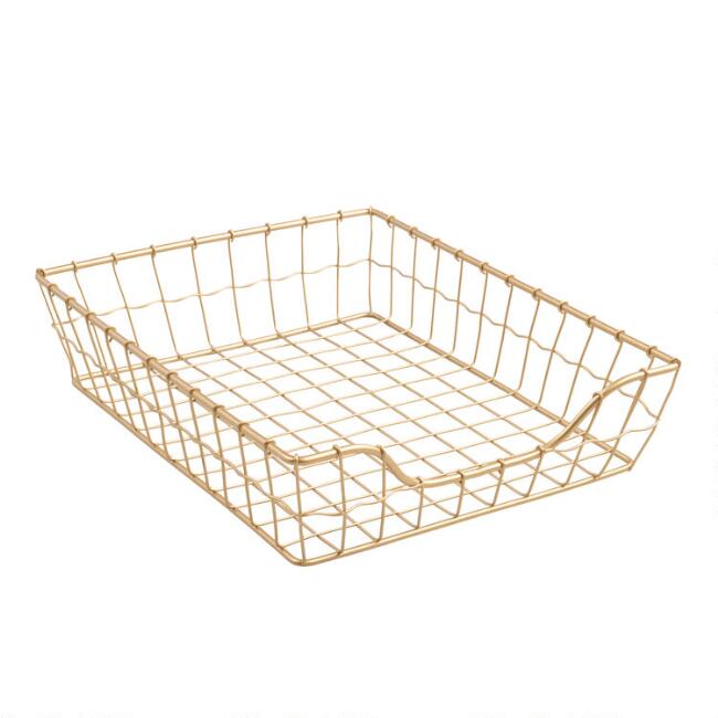 Gold Wire Antonia Paper Tray