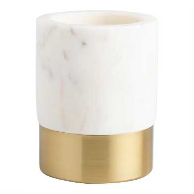 Marble and Gold Metal Maxwell Pencil Cup