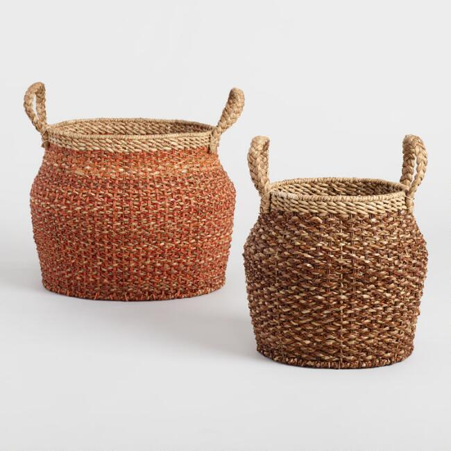Cocoa and Orange Hyacinth Jasmine Jar Baskets