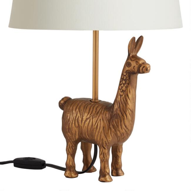 Gold Llama Accent Lamp Base