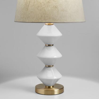 Geo Milk Glass and Gold Zoey Table Lamp - Accent Lighting - Unique Table Lamps Online World Market