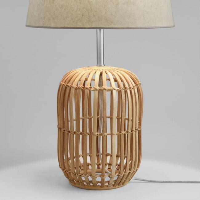 Bamboo wicker carmen table lamp base world market aloadofball
