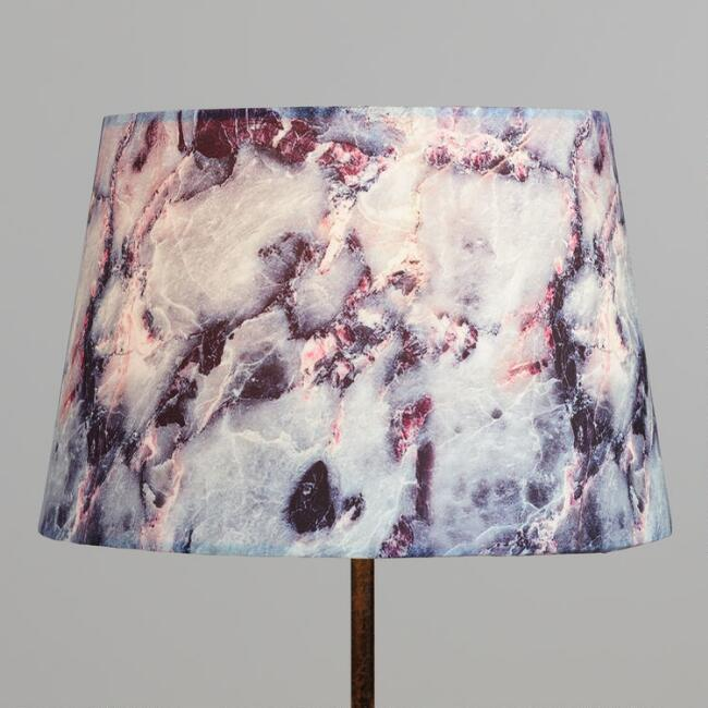 Marbled Stone Linen Accent Lamp Shade
