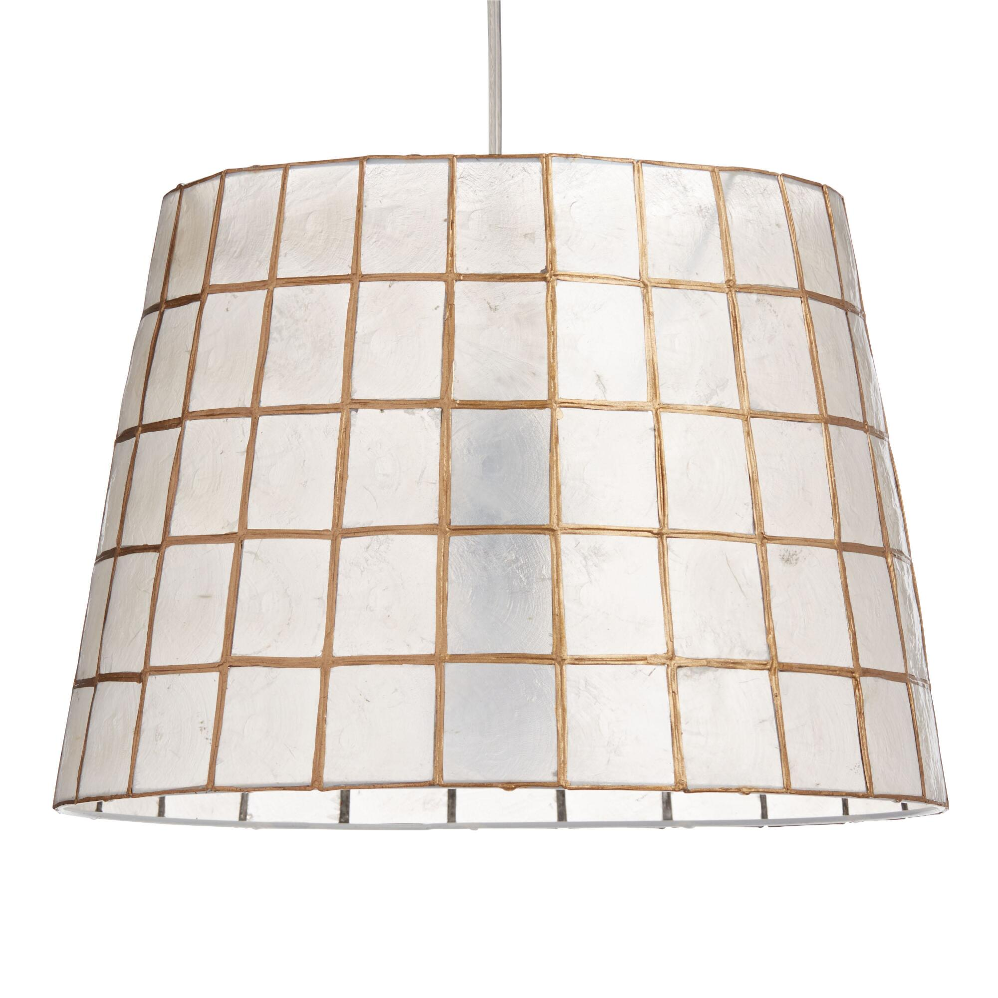 Gold Capiz Tapered Table Lamp Shade - Capiz Shell by World Market