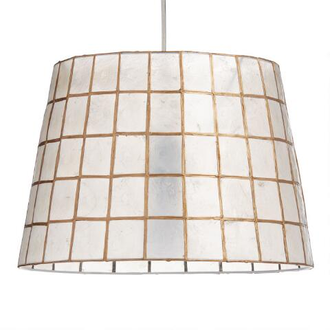 Gold Capiz Tapered Table Lamp Shade