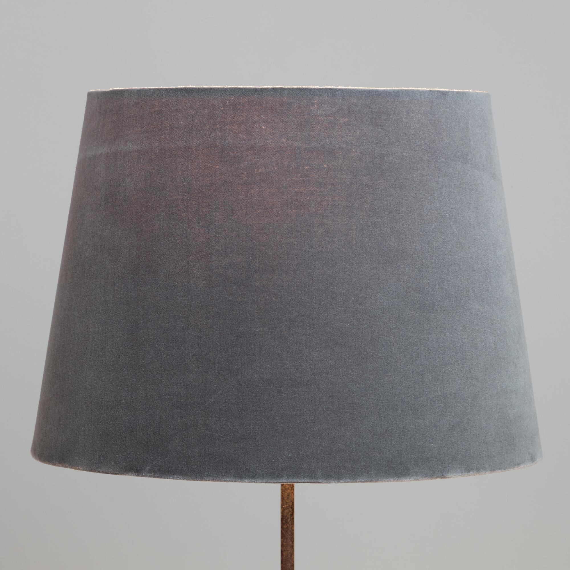 Table top lamps unique lamp shades world market gray velvet table lamp shade geotapseo Gallery
