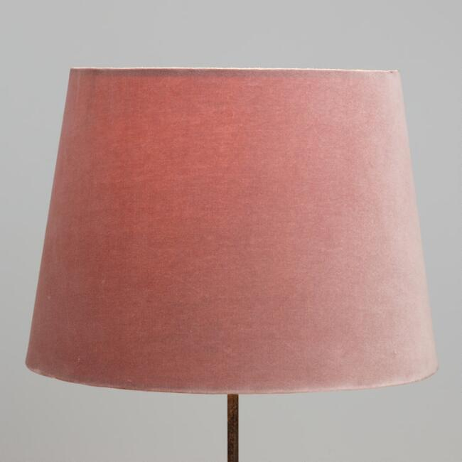 Mauve velvet table lamp shade world market aloadofball Choice Image