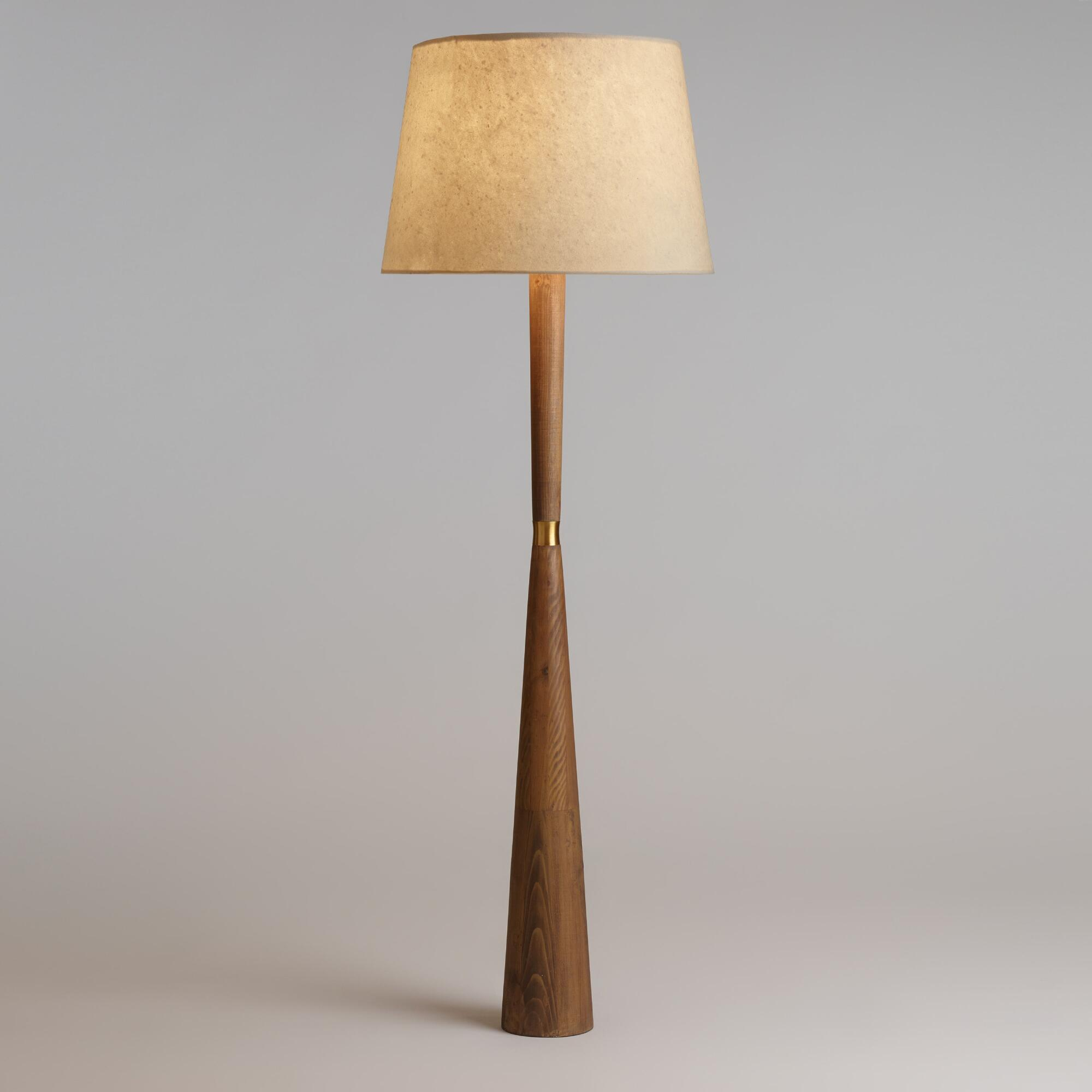 . tapered pinewood aiden floor lamp base  world market
