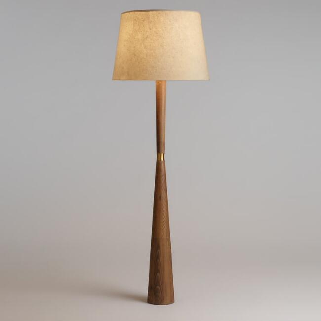 Tapered Pinewood Aiden Floor Lamp Base World Market