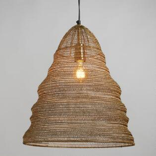 Pendant lighting light fixtures chandeliers world market gold wire ring kiran pendant shade aloadofball Images