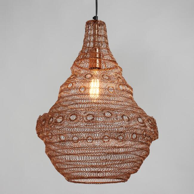Rose Gold Wire Ring Mila PendantPendant Lighting  Light Fixtures   Chandeliers   World Market. Fixtures Lighting. Home Design Ideas
