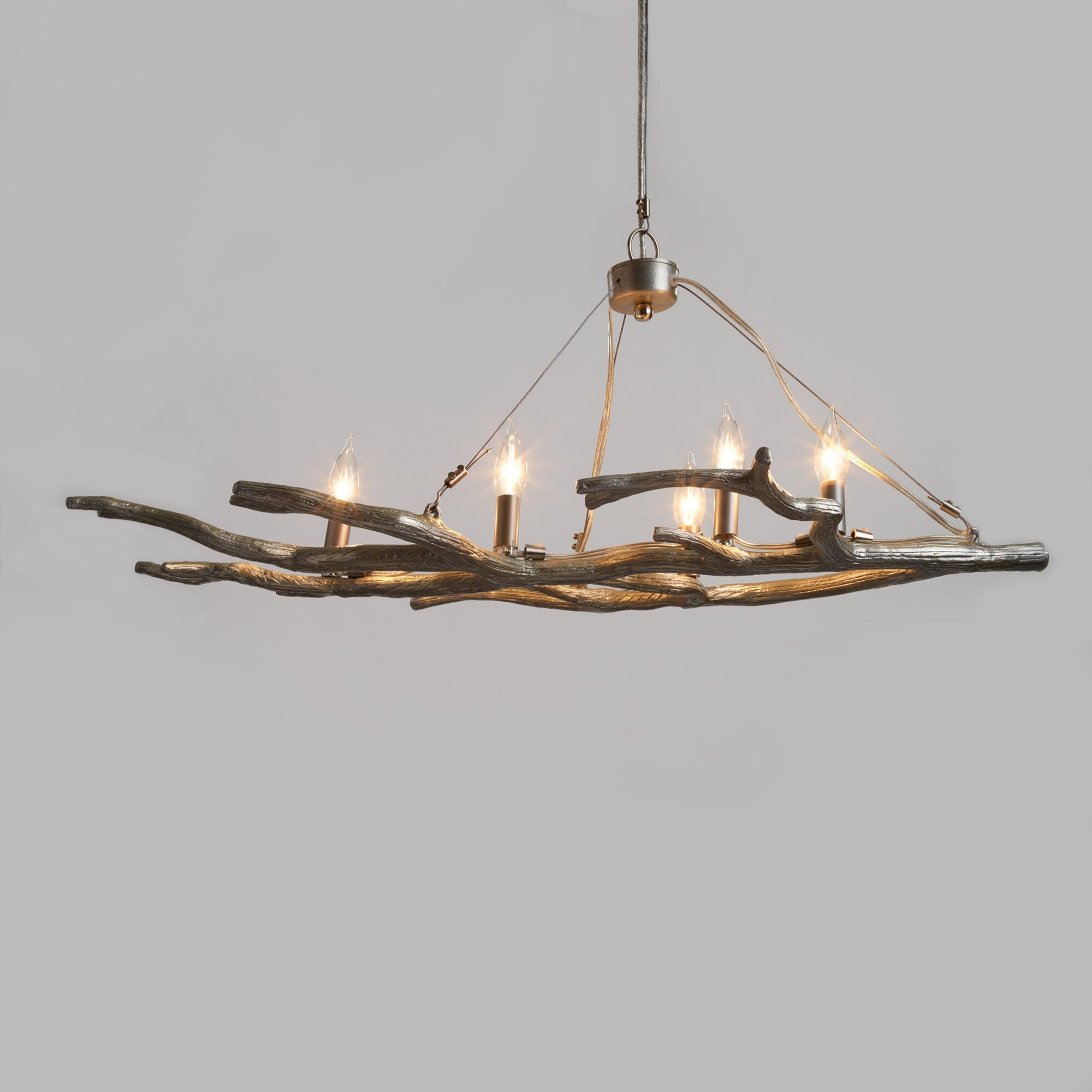 Tips to buy a proper desk lamps lighting and chandeliers - Silver Branch 5 Light Chandelier