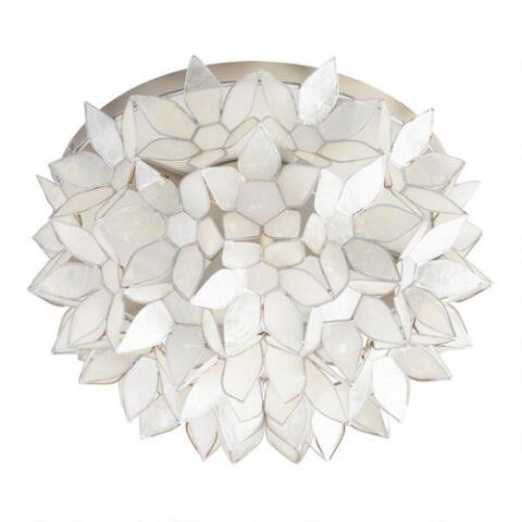 newest 29032 97d07 Capiz Petal Flush Mount Ceiling Light