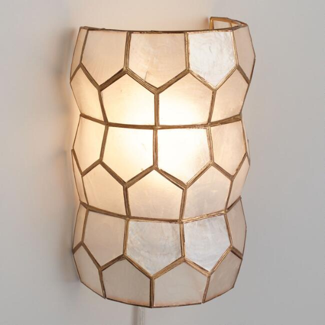 Gold Capiz Wall Sconce