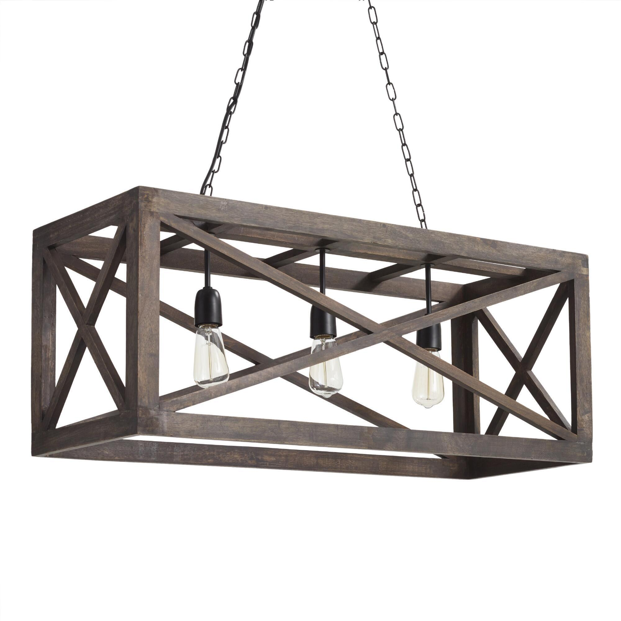 Pendant lighting light fixtures chandeliers world market rectangular gray wood 3 light valencia chandelier arubaitofo Gallery