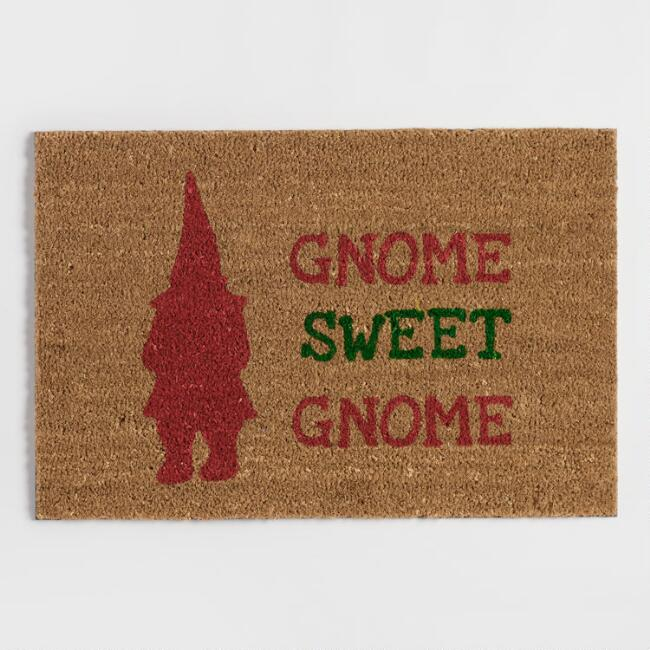Gnome Sweet Gnome Coir Doormat