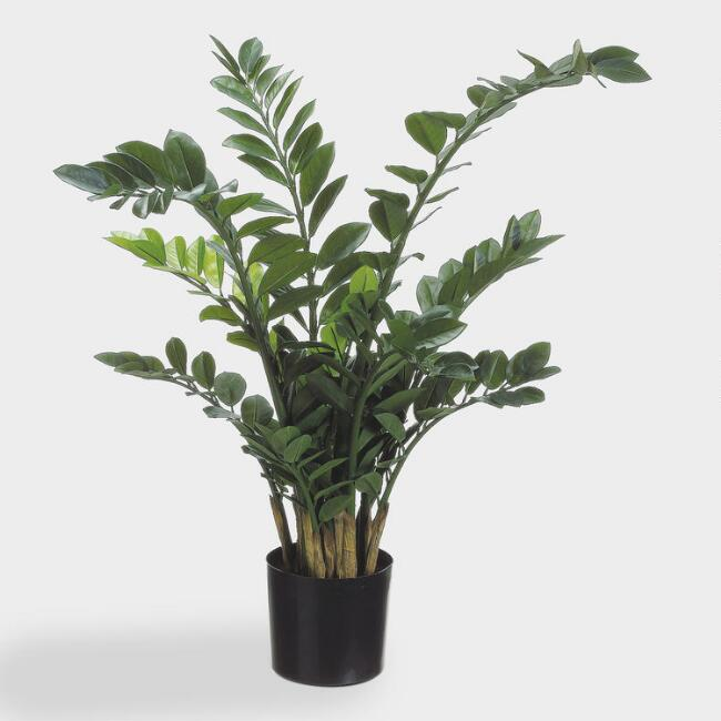 Large Faux Zamioculcas Plant in a Pot
