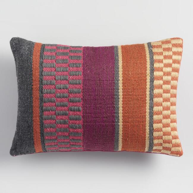 Bold Patterned Indoor Outdoor Lumbar Pillow