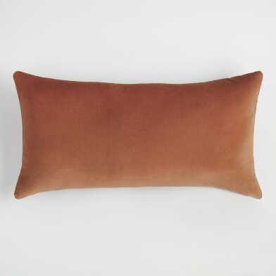 Copper Velvet Lumbar Pillow