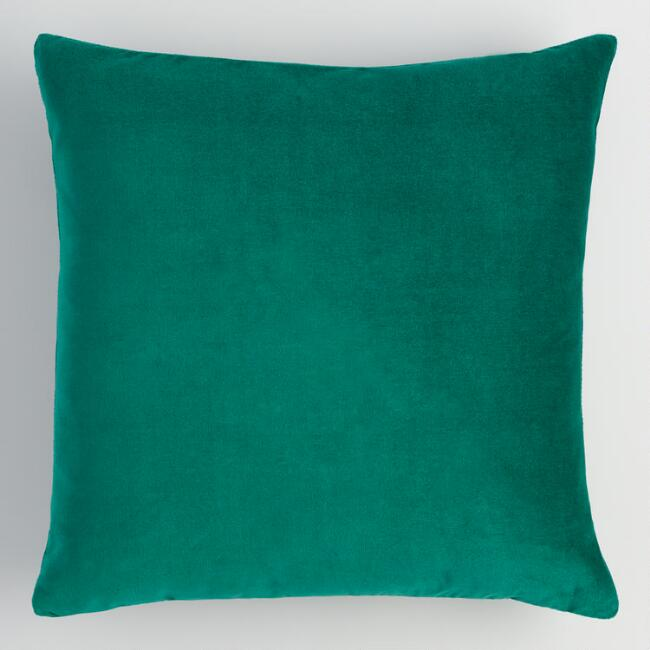 Evergreen Velvet Throw Pillow
