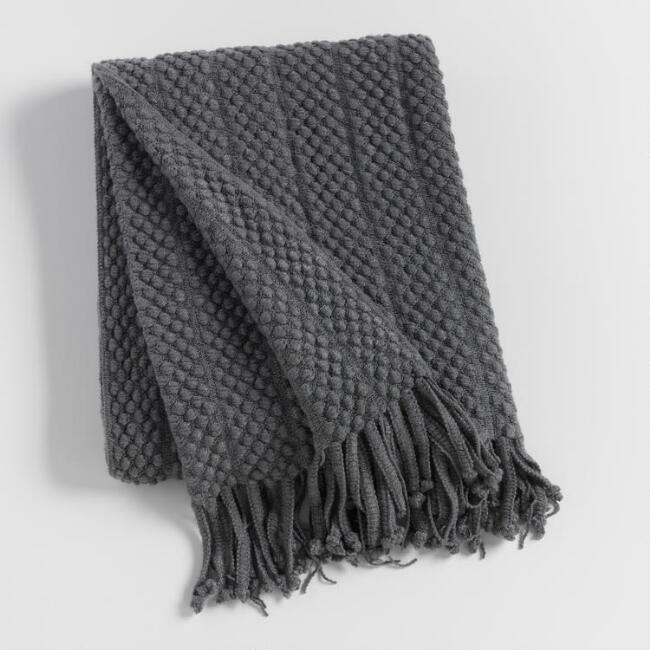 Charcoal Textured Throw