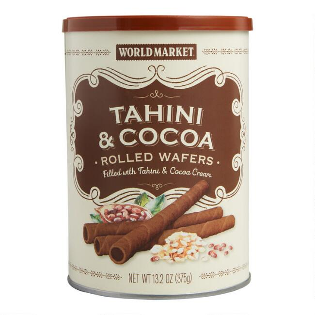 World Market® Tahini and Cocoa Rolled Wafers
