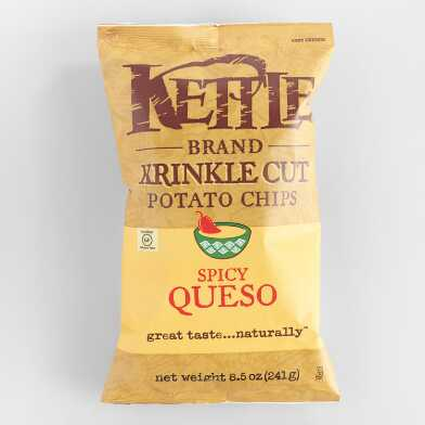 Kettle Krinkle Cut Spicy Queso Potato Chips