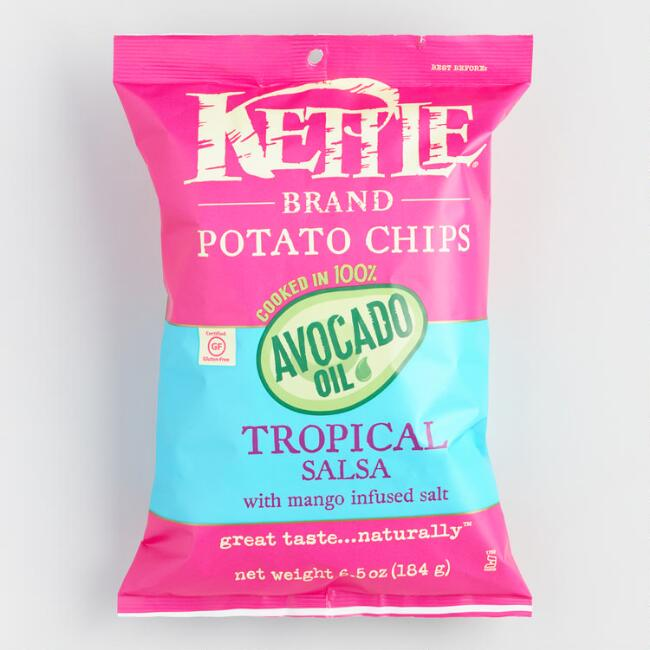 Kettle Brand Tropical Mango Salsa Avocado Oil Potato Chips