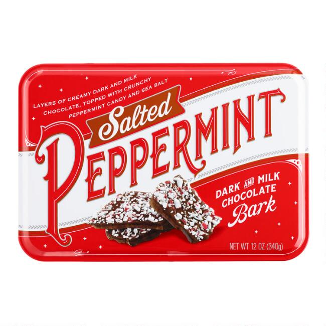 Salted Peppermint Bark Tin