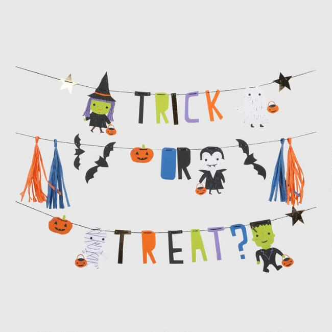 Trick or Treat Halloween Garland