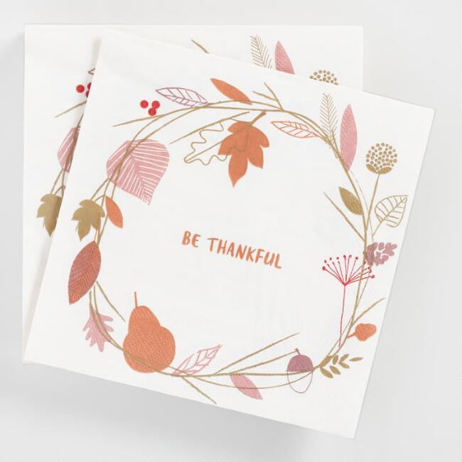 Be Thankful Lunch Napkins 20 Count