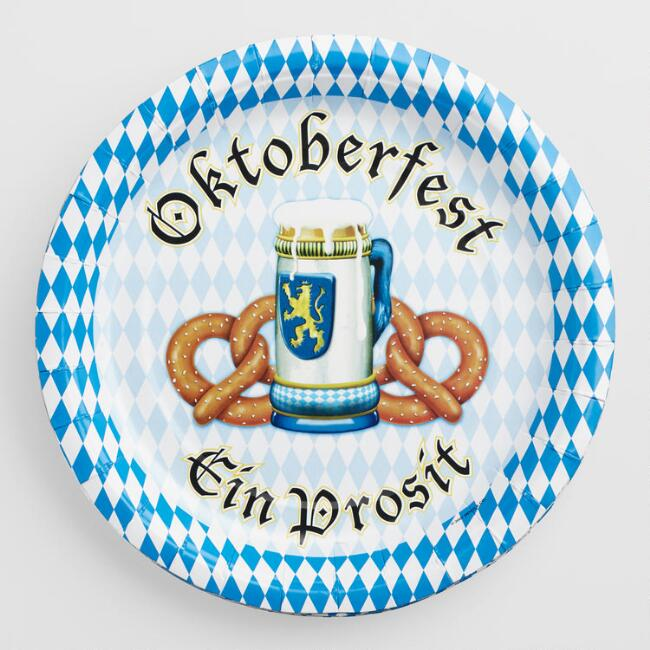 Oktoberfest Plates 8 Count Set of 2