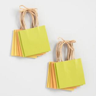 Gift bags gift boxes world market 6 pack mini green kraft gift bags set of 2 negle Gallery