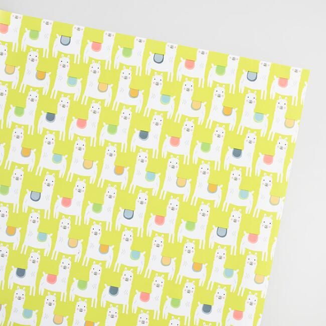 Little Llamas Wrapping Paper Roll