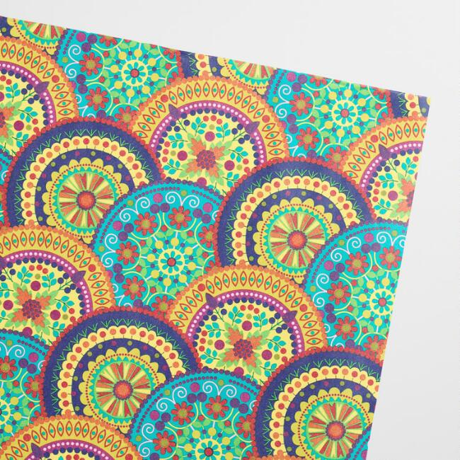 Boho Medallion Kraft Wrapping Paper Roll