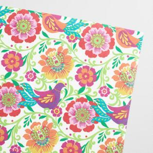 Wrapping paper gift wrap rolls world market boho bird kraft wrapping paper roll mightylinksfo